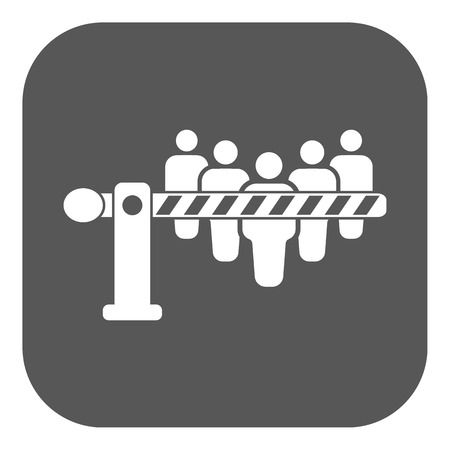 roadblock: The barrier icon. Roadblock and borderline, stop, checkpoint symbol. Flat Vector illustration. Button Illustration