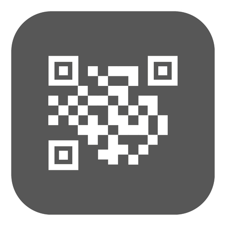 url: The QR code icon.  Link and URL symbol. Flat Vector illustration. Button