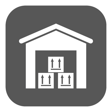 storehouse: The warehouse icon. Storehouse and logistic symbol. Flat Vector illustration. Button