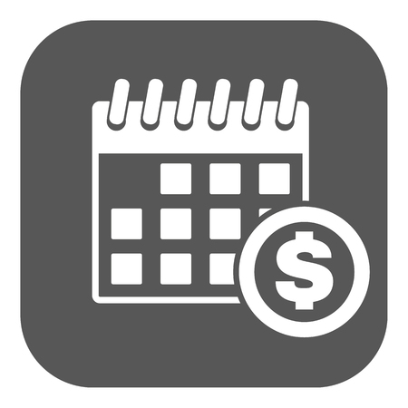 dividends: The pay day icon. Tax and payment, dividends symbol. Flat Vector illustration. Button Illustration