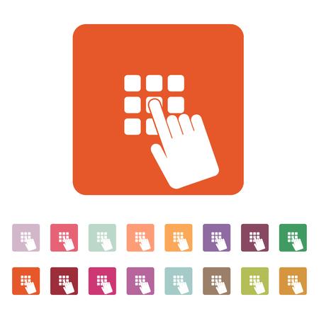 pin code: The pin code icon. Password and  unlock, access, identification, unlock symbol. Flat Vector illustration. Button Set Illustration