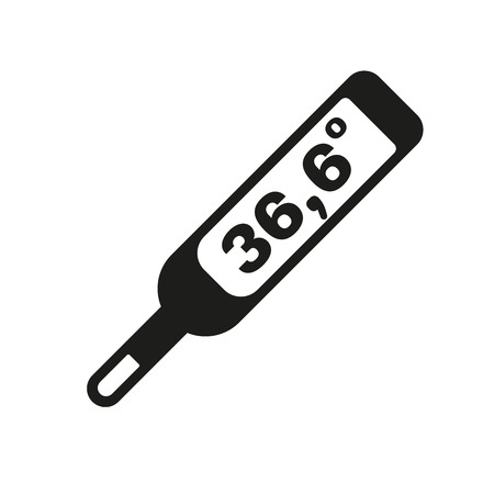 doctor symbol: The medical thermometer icon. Healthy and diagnostic, doctor, medicine symbol. Flat Vector illustration Illustration