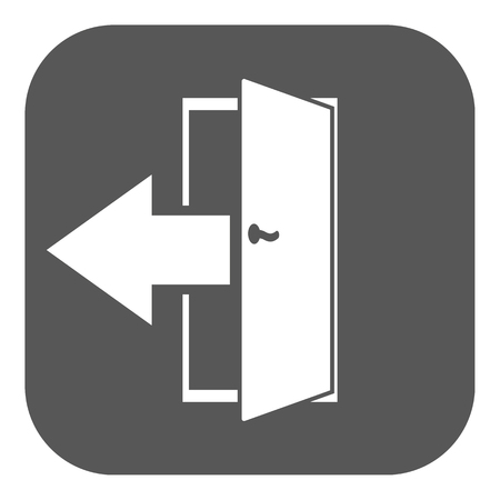 output: The exit icon. Logout and output, outlet, out symbol. Flat Vector illustration. Button