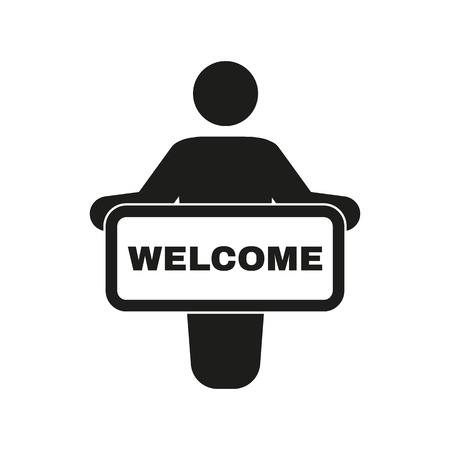 welcome people: The welcom icon. Invite symbol. Flat Vector illustration Illustration