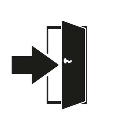 entry: The login icon. Entry and input, authorization symbol. Flat Vector illustration Illustration