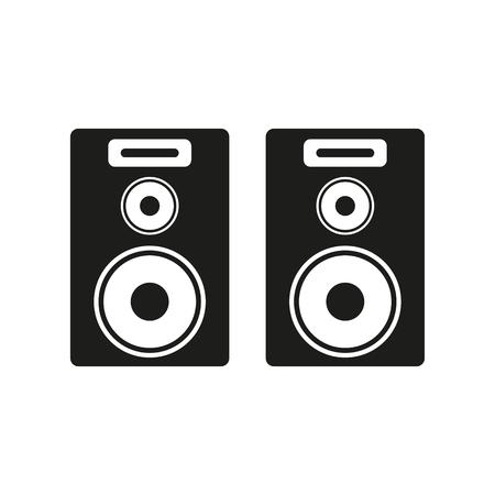 disc jockey: The audio icon. Speaker and music, sound, stereo symbol. Flat Vector illustration Illustration