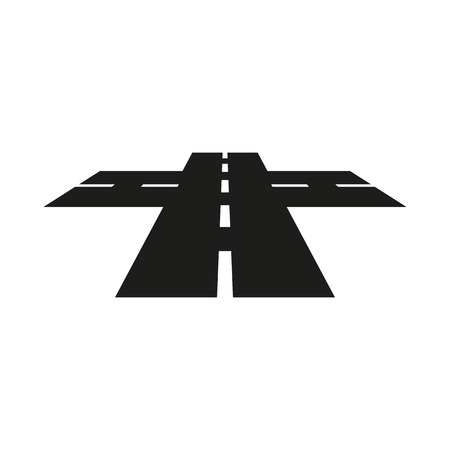 crossroads: The crossroads icon. Crossway and crossing, intersection, road,  route symbol. Flat Vector illustration