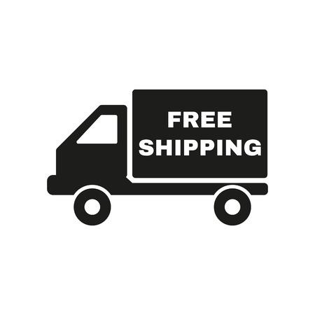 De gratis verzending icoon. Levering en transport, transit-symbool. Flat Vector illustratie