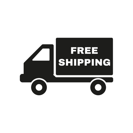 The free shipping icon. Delivery and transportation, transit symbol. Flat Vector illustration Illustration
