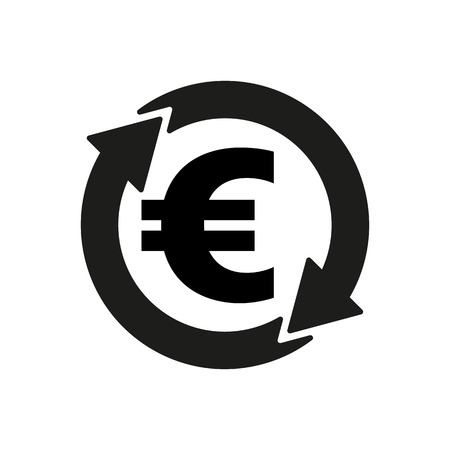 money wealth: The currency exchange euro icon. Cash and money, wealth, payment symbol. Flat Vector illustration Illustration