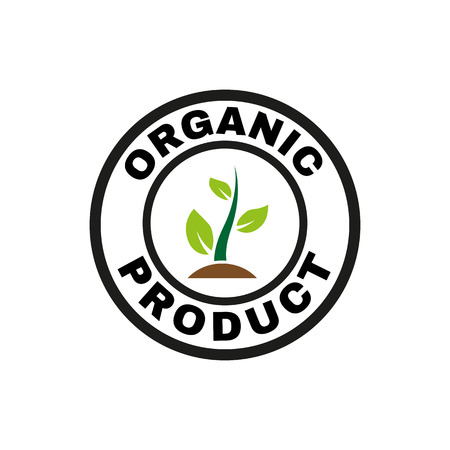 recycling symbol: The organic product icon. Eco and bio, ecology symbol. Flat Vector illustration