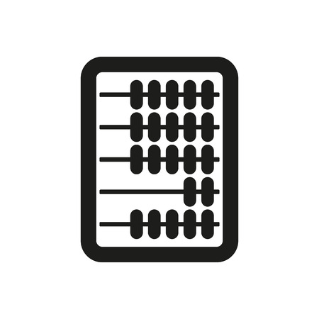 rekensommen: The abacus icon. Finance and calculation, accounting, calculator, arithmetic, mathematics symbol. Flat Vector illustration