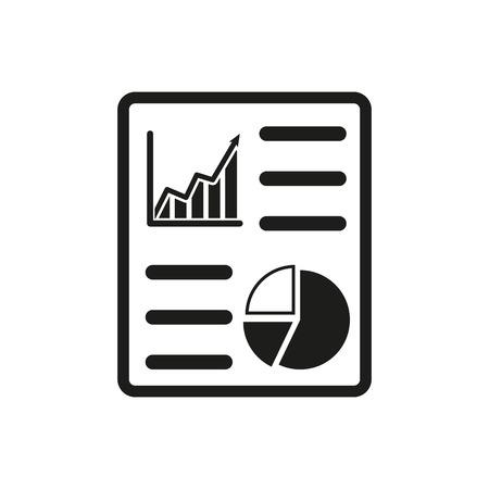 informe: El icono de informe de negocio. Auditoría y análisis de documentos, símbolo plan. Ilustración vectorial Flat
