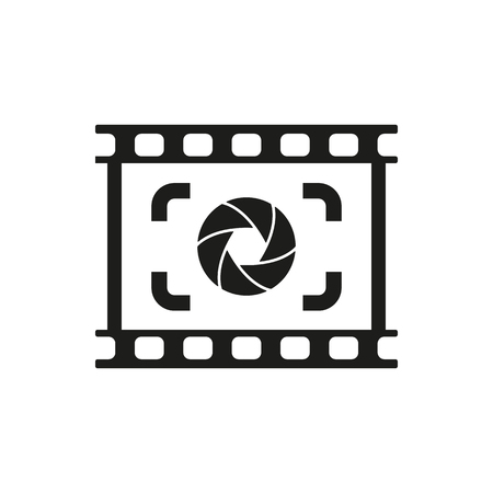focus on background: The viewfinder icon. Focusing and photography, photo symbol. Flat Vector illustration