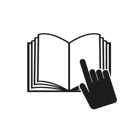 instruction manual: The open book icon. Manual and tutorial, instruction symbol. Flat Vector illustration Illustration