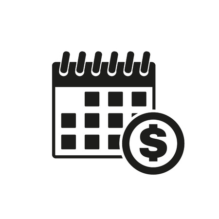 tax time: The pay day icon. Tax and payment, dividends symbol. Flat Vector illustration