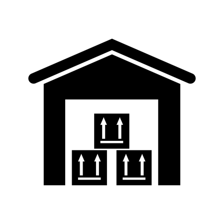 storehouse: The warehouse icon. Storehouse and logistic symbol. Flat Vector illustration
