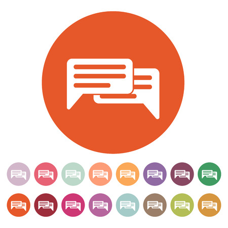 blog icon: The chat icon. Internet and forum, blog, online symbol. Flat Vector illustration. Button Set