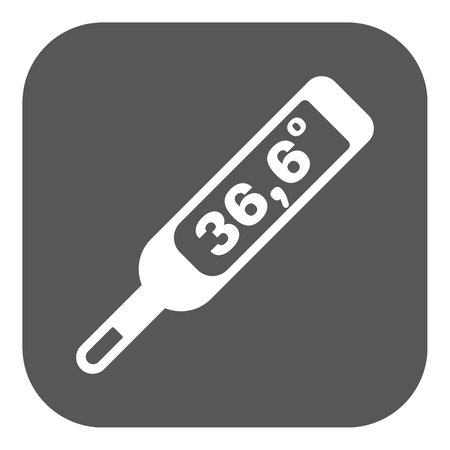 number 36: The medical thermometer icon. Healthy and diagnostic, doctor, medicine symbol. Flat Vector illustration. Button Illustration