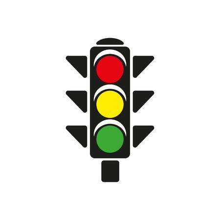 The traffic light icon. Stoplight and  semaphore, crossroads symbol. Flat Vector illustration 일러스트