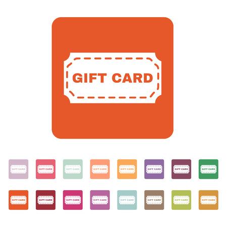 fondo para tarjetas: El icono de la tarjeta de regalo. Cup�n y descuento, oferta de s�mbolos. Ilustraci�n del vector plana. Conjunto del bot�n