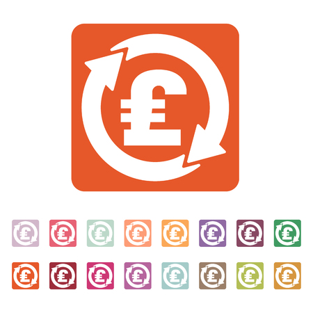 money wealth: The currency exchange pound sterling icon. Cash and money, wealth, payment symbol. Flat Vector illustration. Button Set Illustration