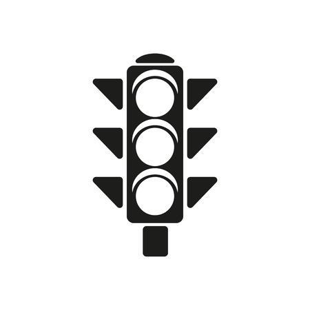 The traffic light icon. Stoplight and  semaphore, crossroads symbol. Flat Vector illustration Ilustracja
