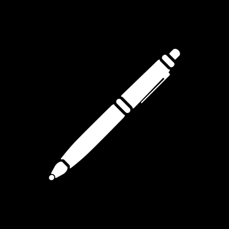 pen: The ballpoint pen icon. Pen symbol. Flat. Vector illustration