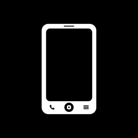 phone symbol: The smartphone icon. Phone symbol. Flat Vector illustration Illustration