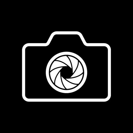 analogue: The camera icon. Photo symbol. Flat Vector illustration