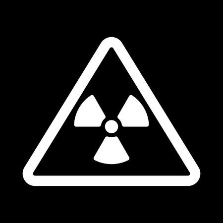 radiacion: El icono de la radiaci�n. S�mbolo de la radiaci�n. Ilustraci�n del vector plana