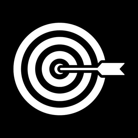 arrow target: The target icon. Target symbol. Flat Vector illustration Illustration