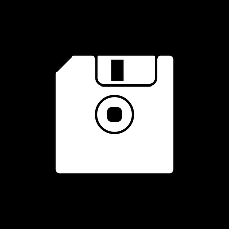 old pc: The floppy disk icon. Diskette symbol. Flat Vector illustration