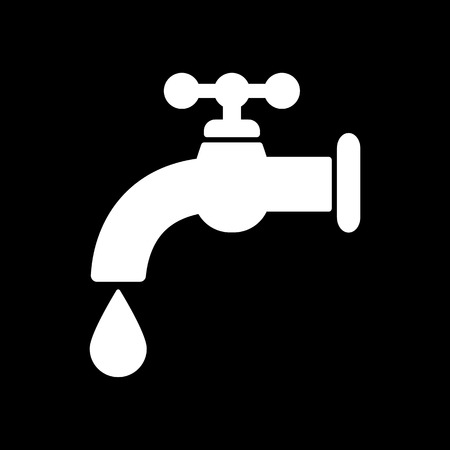 economize: The tap water icon. Water symbol. Flat Vector illustration Illustration