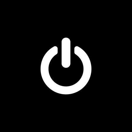 energia electrica: El icono de energ�a. S�mbolo de poder. Ilustraci�n vectorial Flat