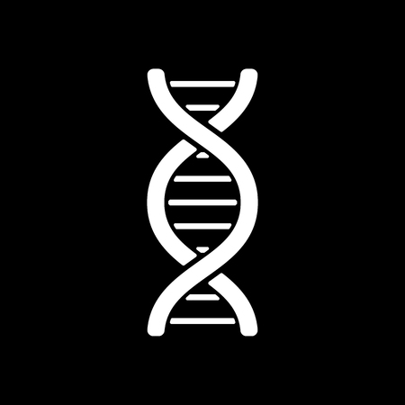 heredity: The dna icon. DNA symbol. Flat Vector illustration Illustration