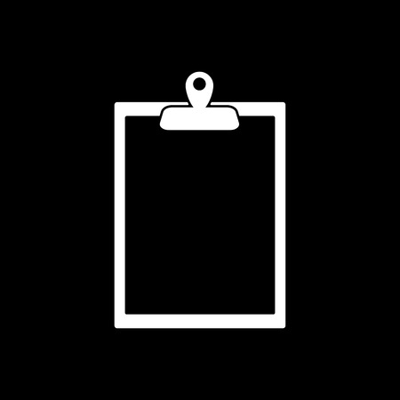 paperwork: The clipboard icon. Paperwork symbol. Flat Vector illustration