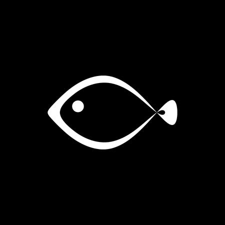 ocean view: The fish icon. Seafood symbol. Flat Vector illustration Illustration