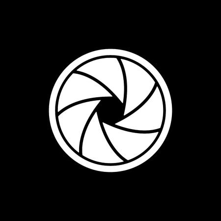 video shooting: The diaphragm icon. Aperture symbol. Flat Vector illustration Illustration