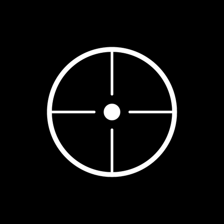 accuracy: The crosshair icon. Search symbol. Flat Vector illustration Illustration