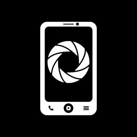 foto: The selfie icon. Foto symbol. Flat Vector illustration