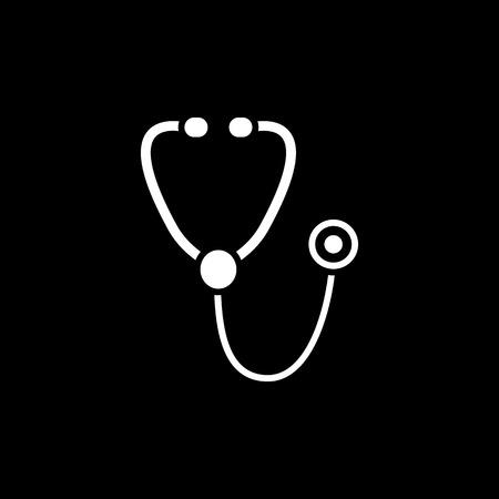 phonendoscope: The phonendoscope icon. Stethoscope symbol. Flat Vector illustration Illustration