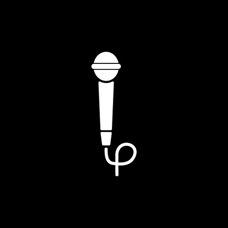 amplification: The microphone icon. Sound symbol. Flat Vector illustration