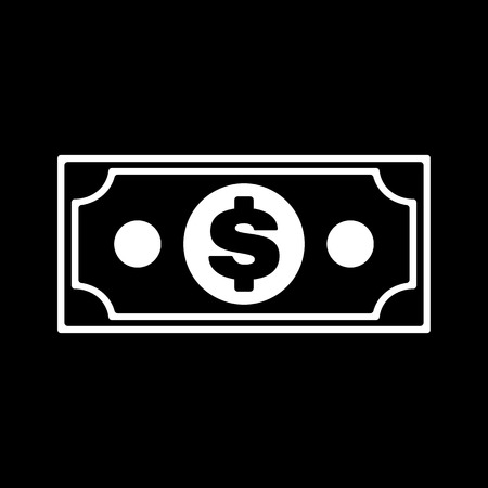 paper currency: The money icon. Dollar symbol. Flat Vector illustration Illustration