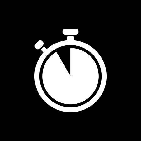 contagem regressiva: The stopwatch icon. Countdown symbol. Flat Vector illustration