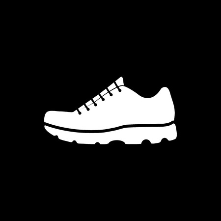 sneaker: The sneaker icon. Shoes symbol. Flat Vector illustration Illustration