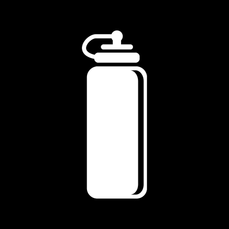 thirst: The sports water bottle icon. Bottle symbol. Flat Vector illustration