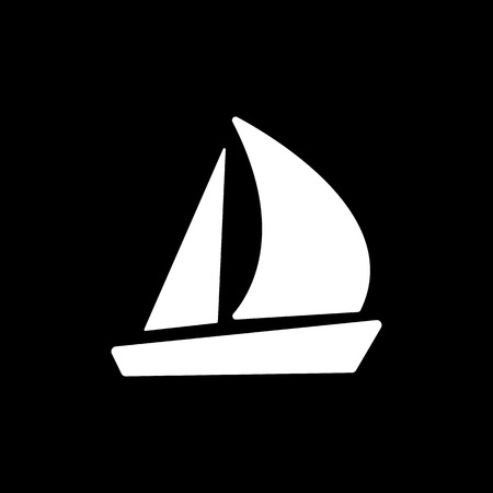 inflate boat: The sailboat icon. Sailing ship symbol. Flat Vector illustration