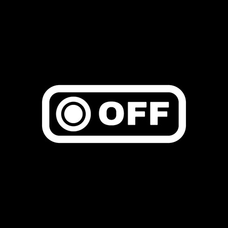 on off button: The off button icon. Off switch symbol. Flat Vector illustration. Button
