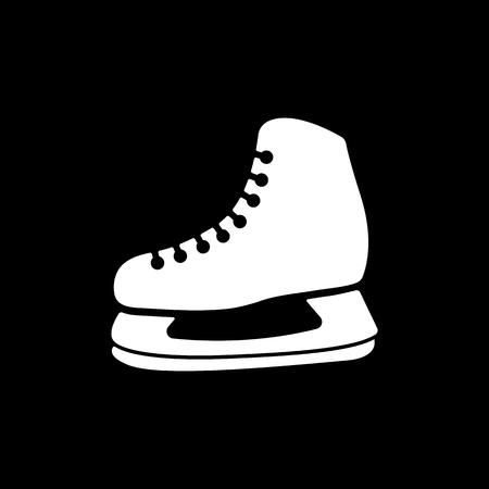 hockey skates: The skates icon. Hockey skates symbol. Flat Vector illustration.
